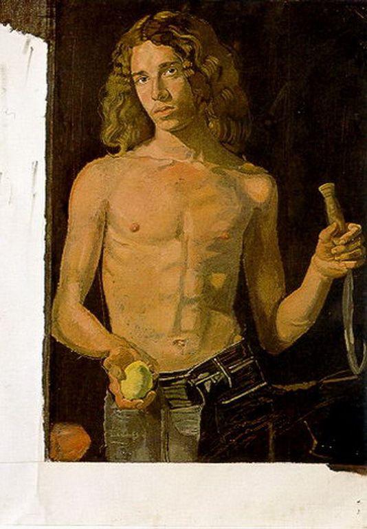 Τσαρούχης Γιάννης-Ντομινίκ ως θέρος [ημιτελές], 1975 – Yannis Tsarouchis [1910-1989] | paletaart – Χρώμα & Φώς