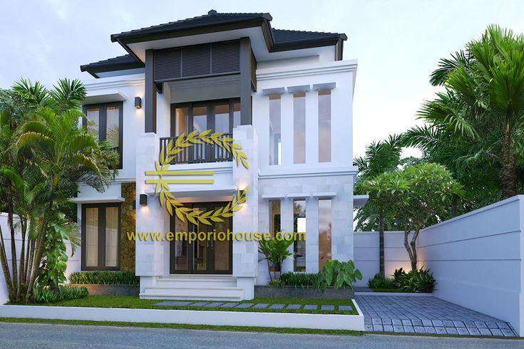 Desain Rumah 2 Lantai 3 kamar Lebar Tanah 12 meter dengan ukuran Tanah 1 are/100m2