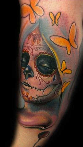 ~Sugar Skull Girl~: Body Mod, Dead Tattoo'S, Skulls Girls, Horror Tattoo'S, Design Tattoo'S, Body Art, Inspiration Tattoo'S, Sugar Skulls, Originals Body