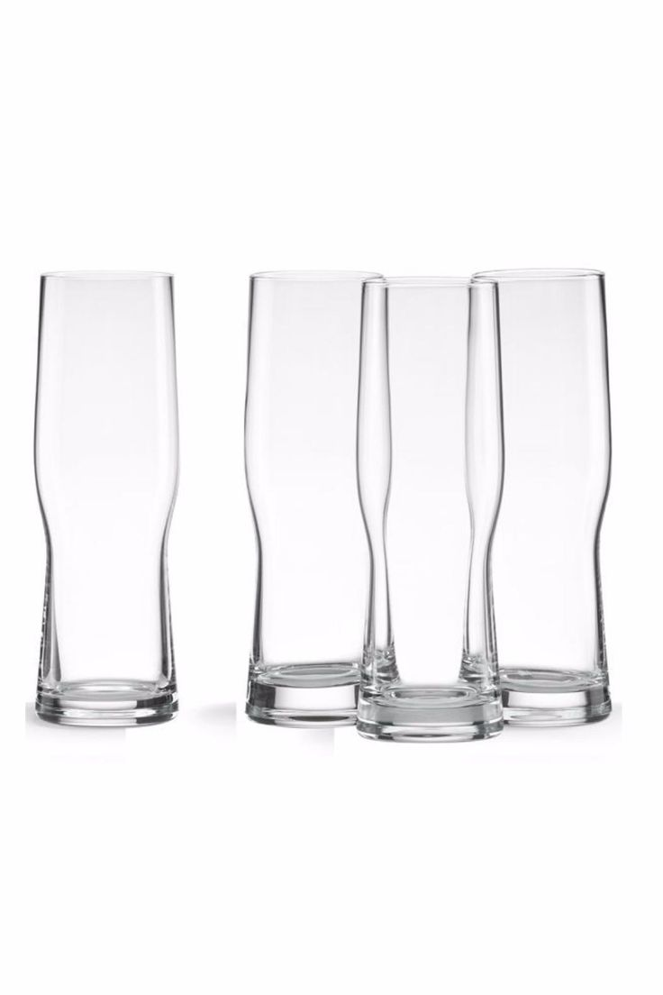 Contemporary style 4 piece Craft Beer Glasses. They are crafted in non-lead crystal. Makes a wonderful gift! These glasses are dishwasher safe. Set of 4.    Capacity is 18 oz   Beer Glasses by Lenox. Home & Gifts - Home Decor - Dining - Glassware Miami, Florida