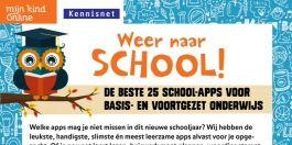 Weer naar school! De beste 25 school-apps  Welke apps mag je niet missen in dit nieuwe schooljaar? We hebben de leukste, handigste, slimste en meest leerzame apps alvast voor je opgezocht.