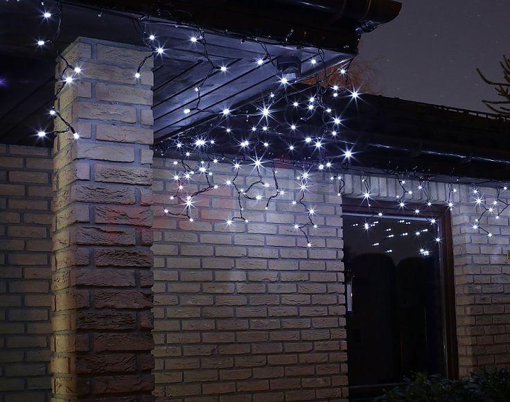 Lumières de Noël pour l'extérieur LED rideau glaçons blanc http://www.rotopino.fr/lumieres-de-noel-pour-l-exterieur-led-rideau-glacons-blanc-bulinex-38-659,58156 #lumieresdenoel #noel #decoration #rotopino