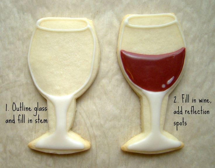 Outline the wine glass with white icing and flood the stem and base. Description from lavieencookies.wordpress.com. I searched for this on bing.com/images