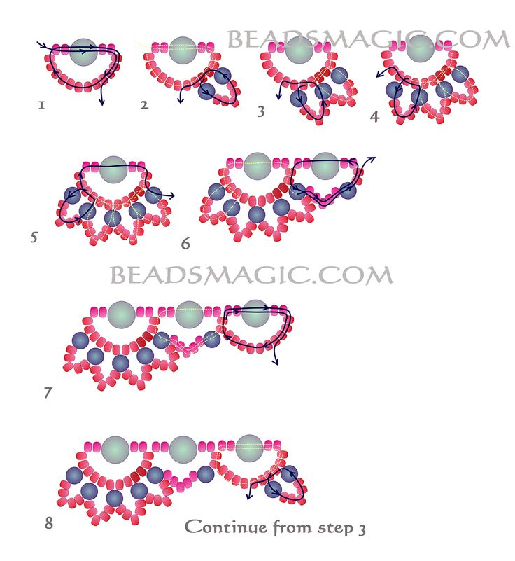Free pattern for beaded necklace Rosana | Beads Magic