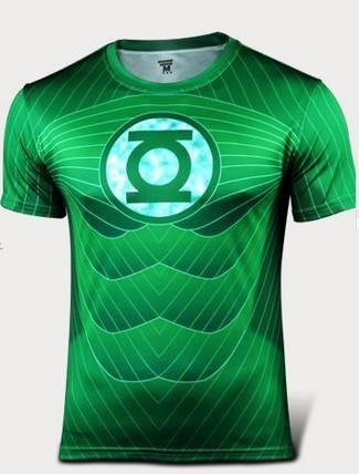 Green Lantern Marvel Comics Sport fitness gym T shirt for Men - Decal Design