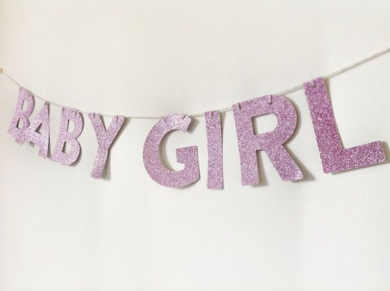 BABY GIRL Glitter Banner.... Fantastic Baby by CreativePapier, $18.00