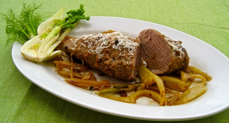Pork Filet with Braised Fennel and Parmesan