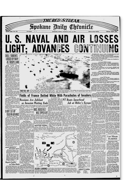 How 21 Newspaper Front Pages Covered The D-Day Invasion 70 Years Ago