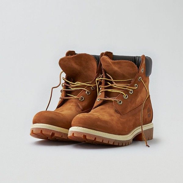 "Timberland 6"" Icon Boot ($190) ❤ liked on Polyvore featuring men's fashion, men's shoes, men's boots, brown, mens water proof boots, mens brown leather boots, mens brown boots, mens brown shoes and mens brown leather shoes"