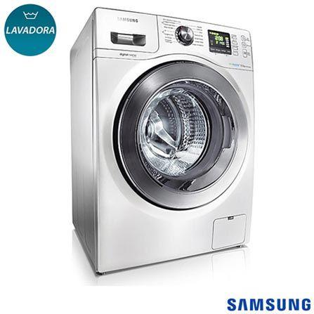 Lavadora de Roupas Samsung 10,1 Kg Seine Branca – WF106U4SAWQ - com 14 Programas de Lavagem, Eco Bubble e Cesto em Aço Inox. Confira na Fast Shop.