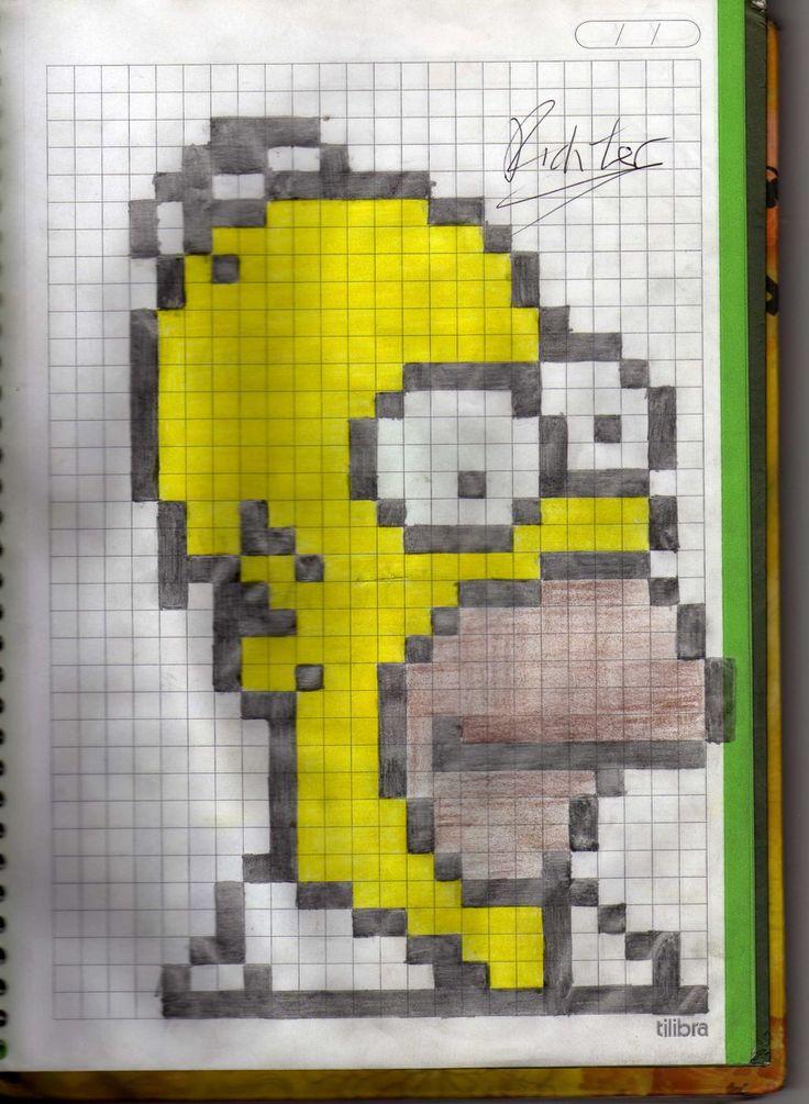 Imagenes para dibujar a lapiz faciles dibujos para colorear. dibujos 8 bits - Buscar con Google   Dibujos en cuadricula