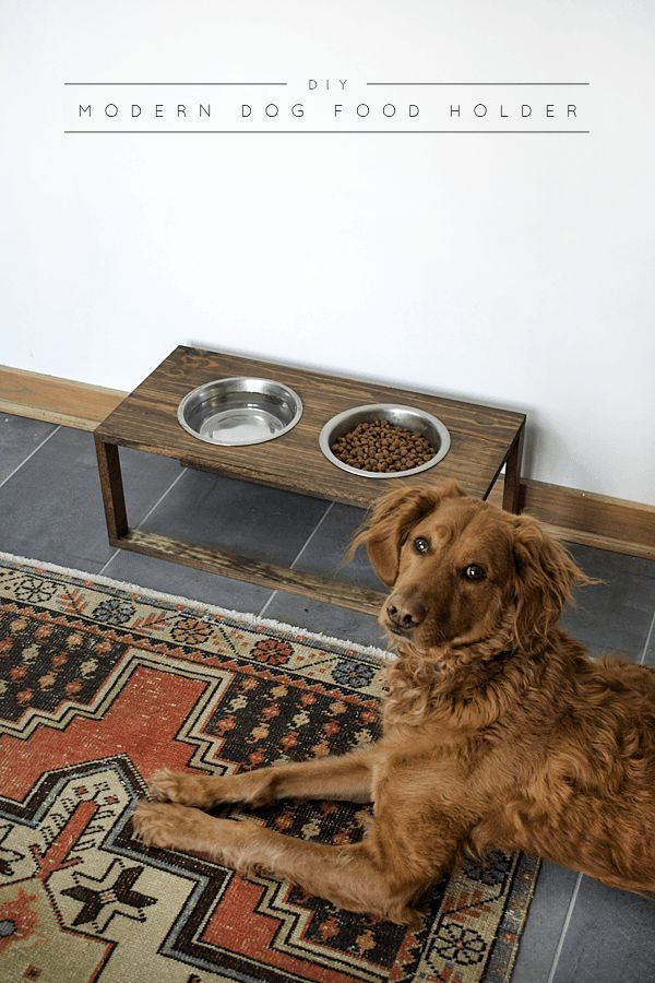 DIY Modern Dog Food Holder