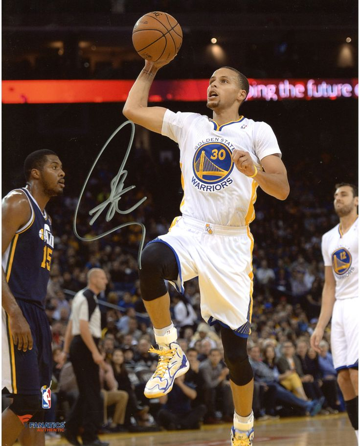 "Stephen Curry Golden State Warriors Autographed 8"" x 10"" White Uniform Floater Photograph"