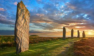The Ring of Brodgar, 2500-2000 BC, a neolithic stone circle, Orkney, Scotland - from The Making of the British Landscape by Nicholas Crane