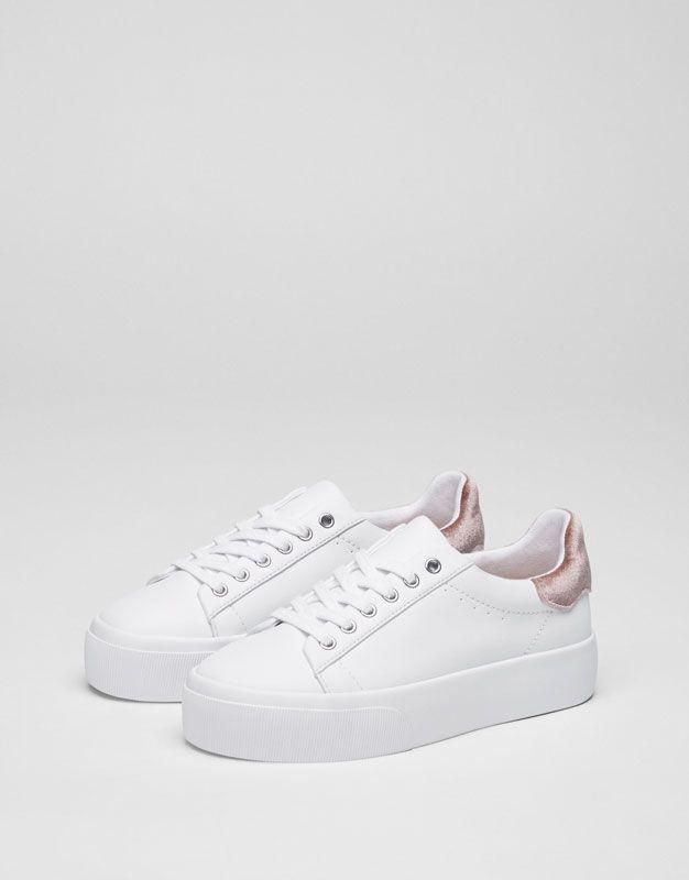 d1a6dc3d56 Bamba detalle velvet - Zapatillas - Zapatos - Mujer - PULL&BEAR España