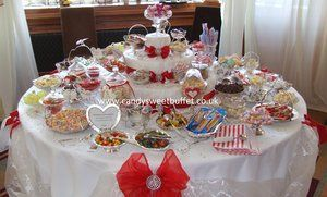 Wedding sweets and candy buffet table hire Sheffield, Chesterfield, Leeds, Nottingham, Derby