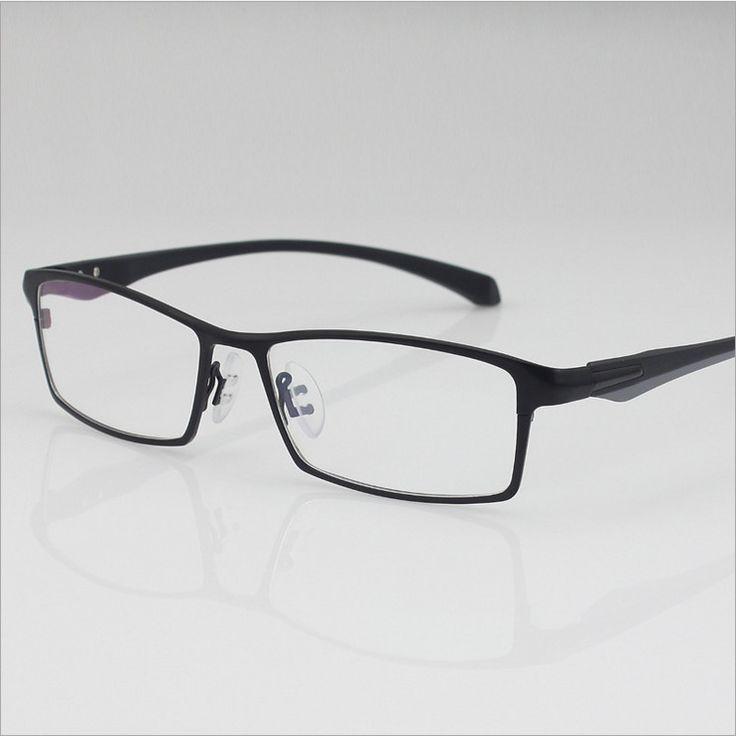 Hot sale freeshipping solid men alloy eyeglass frames optical men's designer glasses full-frame optics Large-framed glasses 9064