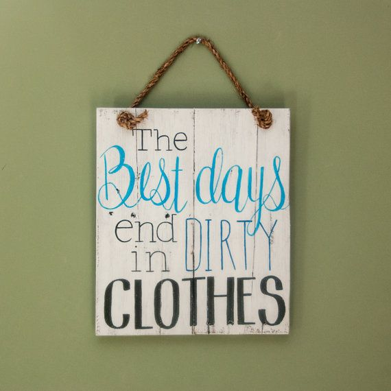 Shabby Chic Laundry Room Sign hand painted on Reclaimed Pallet Wood by SimplyPallets