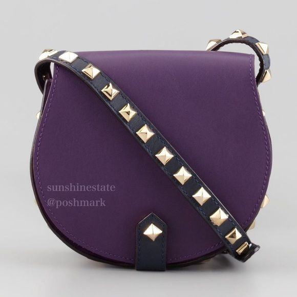 Rebecca Minkoff studded mini Skylar Plum Midnight Authentic, few scratches, comes with dust bag. Stylish deep purple goes well with everything, a rare find! No trades. Leave email if you want to see large pictures. Rebecca Minkoff Bags Crossbody Bags