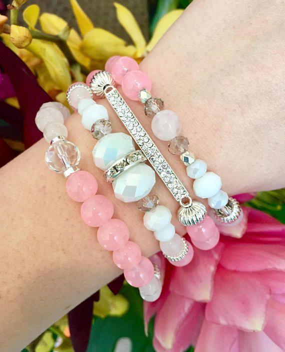 Pamplemousse empiler Bracelets de perles Bracelets Bracelets