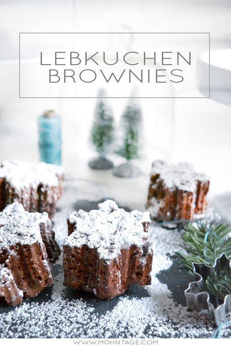 Zartschmelzend schokoladig auf der Zunge: Lebkuchen Brownie Schneeflocken! Der perfekte Partysnack für Weihnachtsfeiern oder einfach so zum Naschen in der kalten Jahreszeit! #brownies Weihnachtsbäckerei, backen, backen zu Weihnachten, Rezepte zu Weihnachten, Weihnachtsgebäck, Parytfood, Partysnack