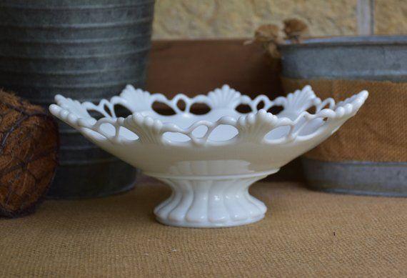 Vintage Westmoreland MilkGlass Fruit Bowl