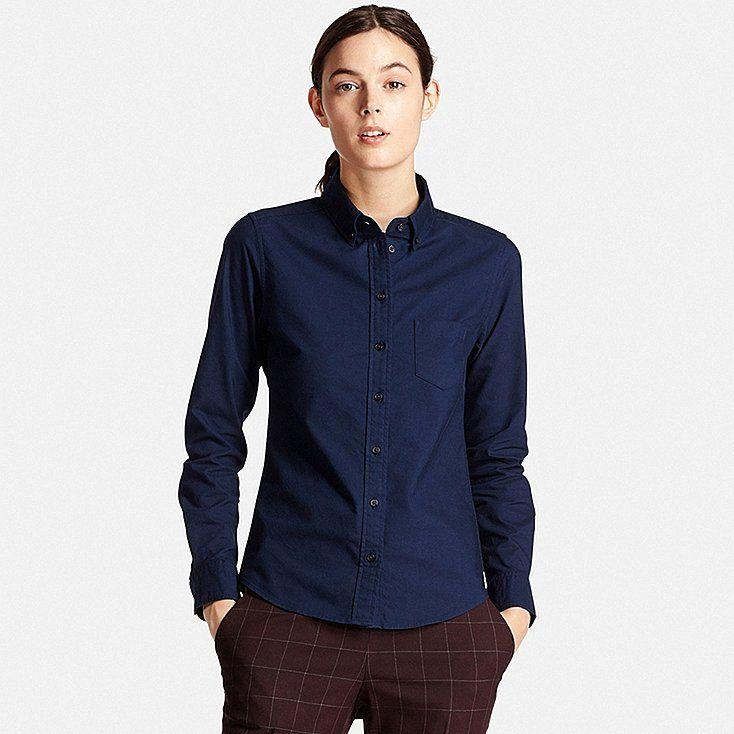 DAMEN Oxford Hemd Slim Fit Stretch
