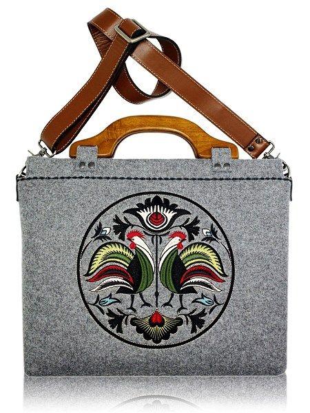 Made in Poland! Notebook bag, handmade / www.folkstar.pl Handmade Handbags & Accessories - http://amzn.to/2ij5DXx