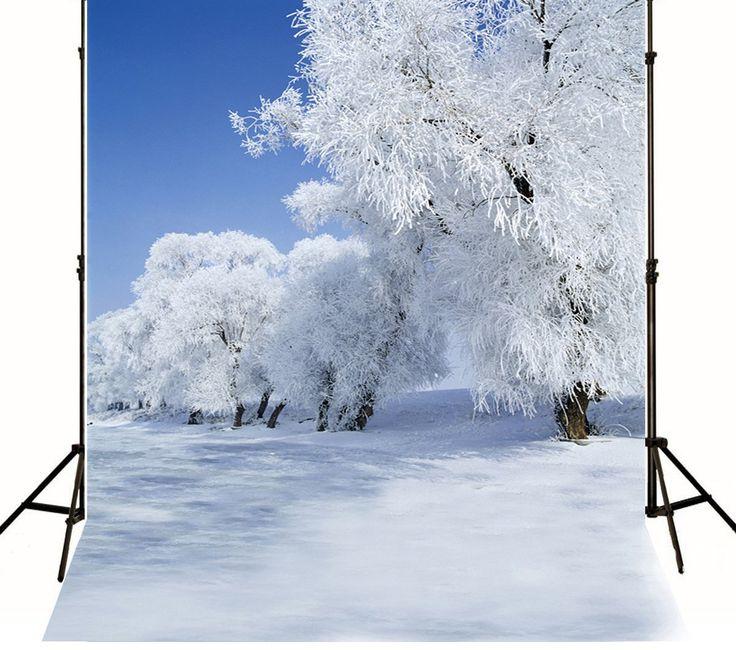 Amazon.com : 5x7ft No Wrinkles Photographic Background Frozen Snow Trees Photography Backdrop : Camera & Photo
