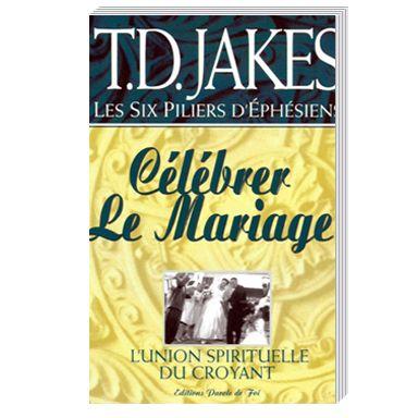 """"""" Célébrer le mariage """" de T.D. Jakes est le tome 5 d'une étude sur les six piliers d'Éphésiens. C'est une série riche qui parle de notre relation avec Jésus. Jésus vous poursuit et vous recherche parce qu'Il veut vous chérir et vous prodiguer Son amour. Ne pensez-vous pas qu'il est temps d'entrer pleinement dans cette relation de mariage ?"""