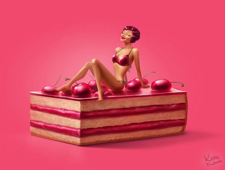 Cherry-pie by Ekaterina-Frolova