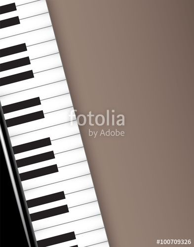 Vektor: Piano Konzert Karte