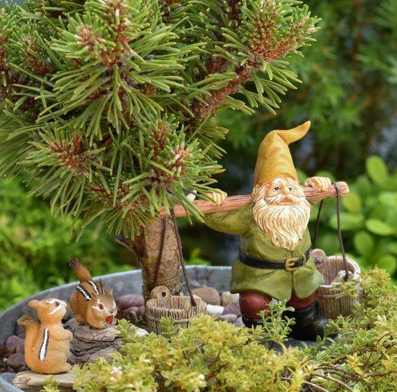 TWO Miniature Chipmunks for Fairy Garden / Fairy Garden Accessories / Miniature Animals – Products