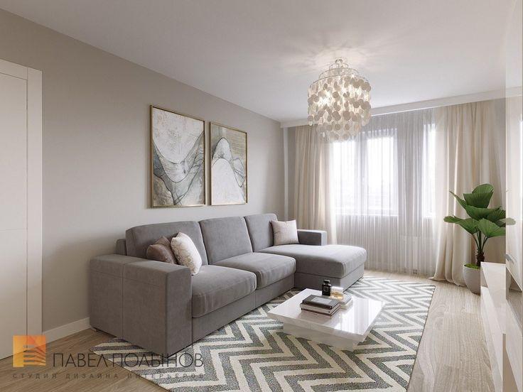 Фото гостиная из проекта «Интерьер двухкомнатной квартиры 54 кв.м. в современном стиле»