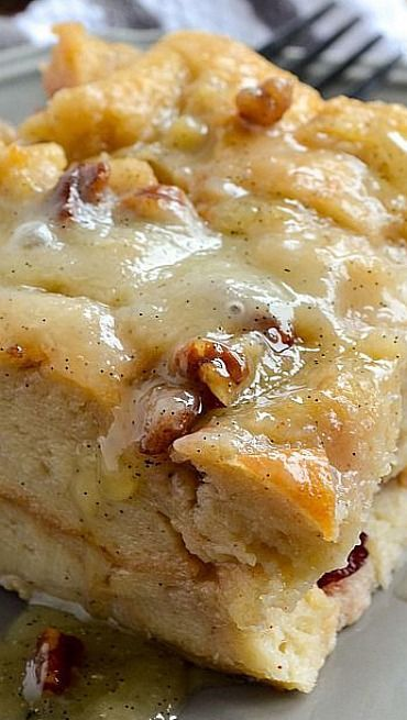 Bread Pudding with Vanilla Bean Sauce