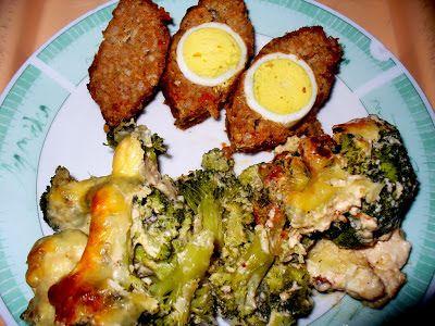 Csőben sült brokkoli Stefánia szelettel, update módra