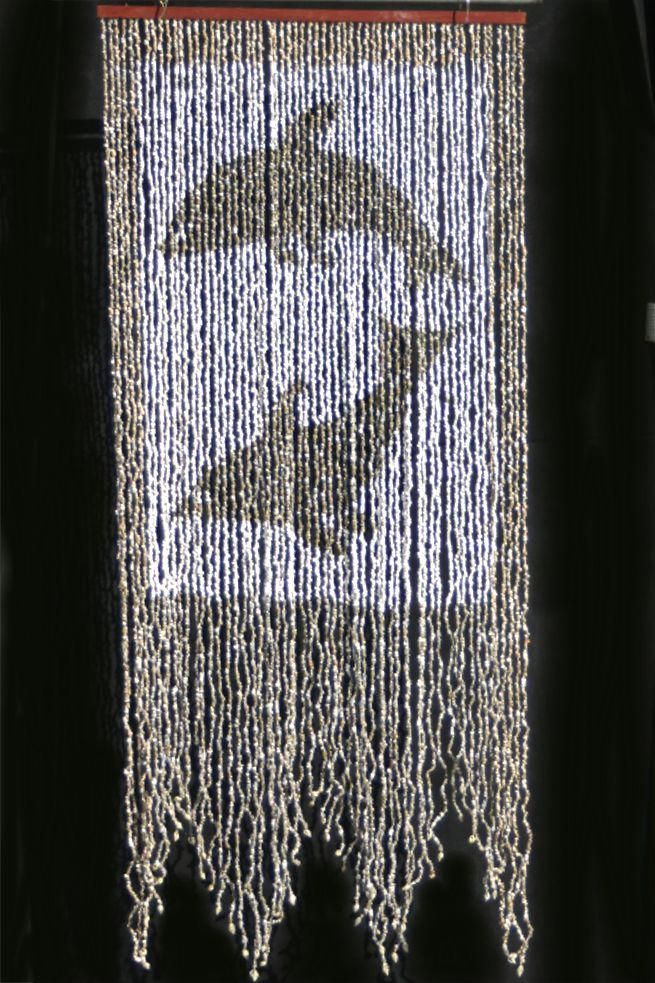 Shell Beaded Curtain With 52 Strands Our Dolphins Pattern Shell