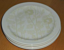 CROWN LYNN Symphony Cream - 4 side plates like new