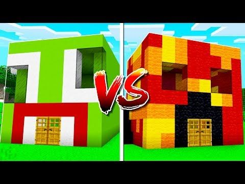 Unspeakable House Vs Preston House In Minecraft Youtube Preston Minecraft Minecraft Toys