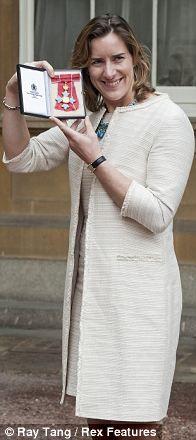 Katherine Grainger with her CBE in 2013