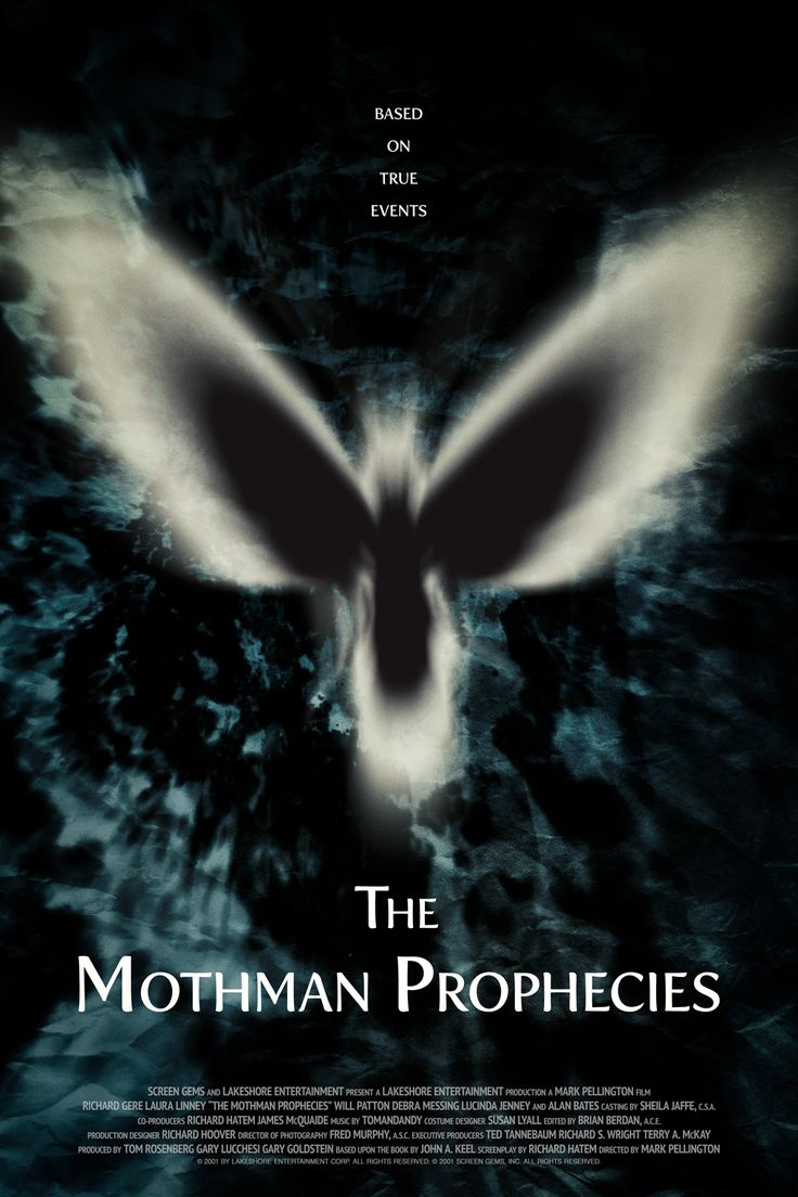Poster for The Mothman Prophecies by Scott Saslow. #themothmanprophecies #markpellington #richardgere #lauralinney #debramessing #willpatton #lucindajenney #2000s #drama #thriller #mystery #supernatural #horror #movieposter #graphicdesign #posterdesign #fanart #alternativefilmposter #alternativemovieposter #photoshop