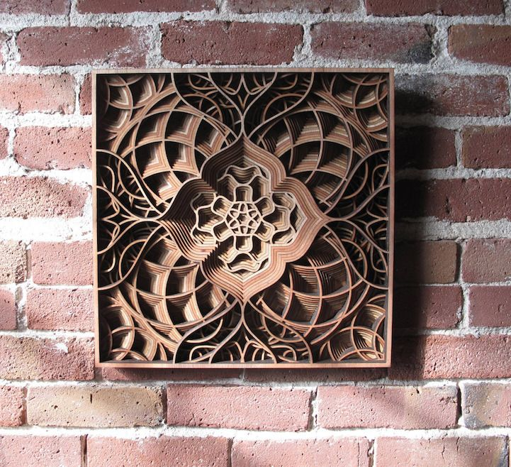 Amazingly intricate laser cut wood relief sculptures by gabriel schama