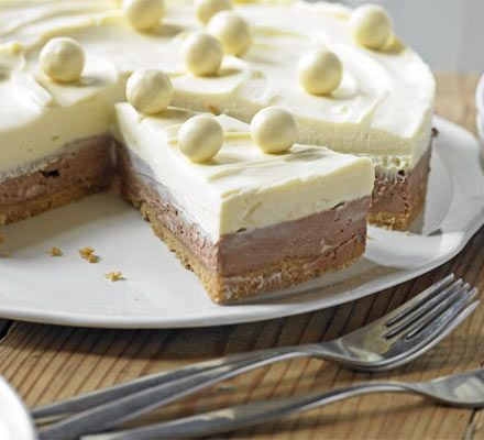 Malt chocolate cheesecake. This crowd-pleasing dessert is made ahead, so all you have to do on the night is take it out of the fridge and bask in the glory.