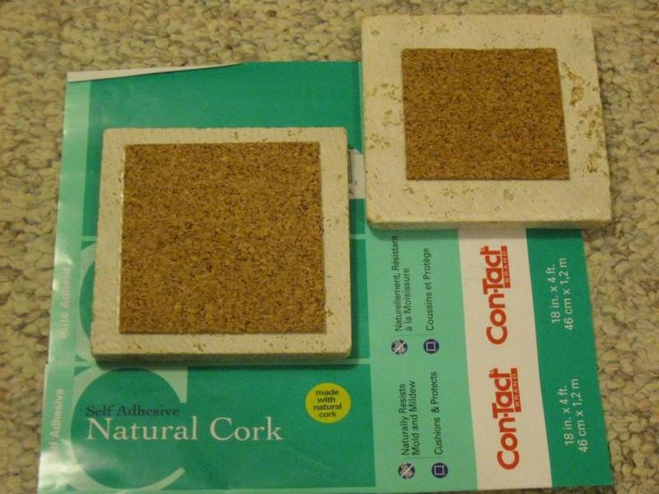 Adhesive Cork for back of tile coasters