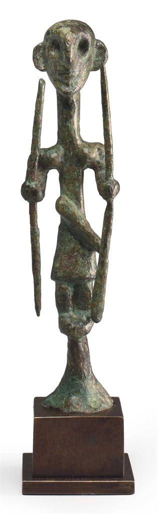 A CANAANITE BRONZE WARRIOR DEITY MIDDLE BRONZE AGE II, CIRCA 1700-1500 B.C.  | Christie's