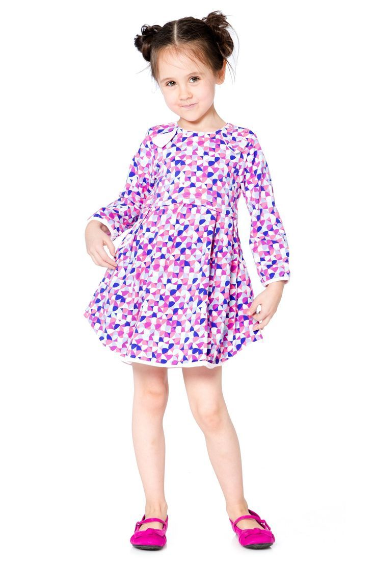 a680bb1322bd9 Little buttons on the shoulders and an embroidered bear face with ears make  the Winter Treats Printed Jersey Dress a darling option for play dates and  ...