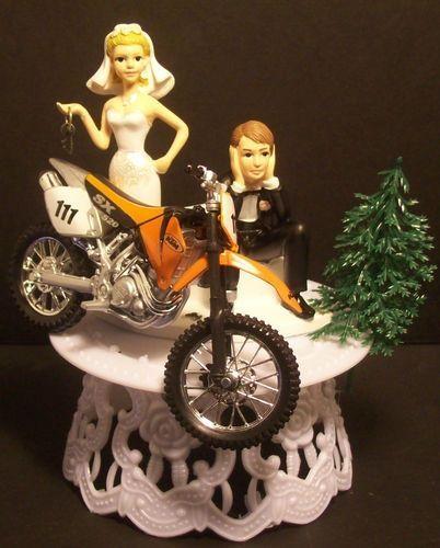 cake toppers for weddings dirt bike | ... KTM 520 Dirt Bike Got the Key WEDDING CAKE TOPPER FUNNY ! Groom Cake