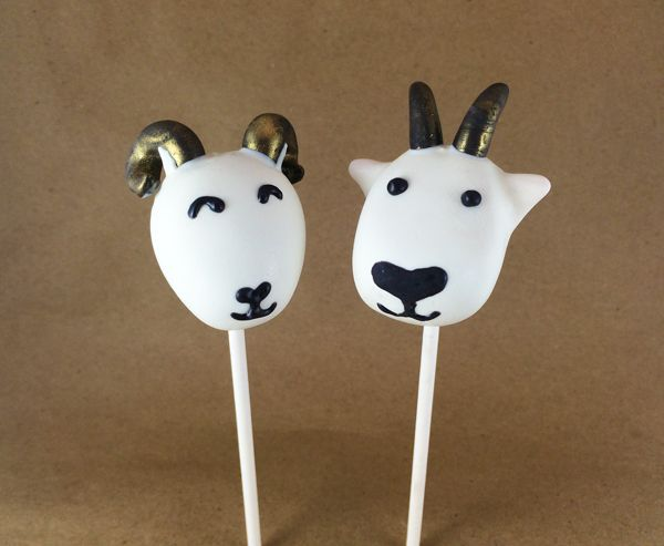 2015 is the year of the goat or sheep, depending on who you ask! I'll teach you how to make goat cake pops or sheep cake pops using the exact same materials.