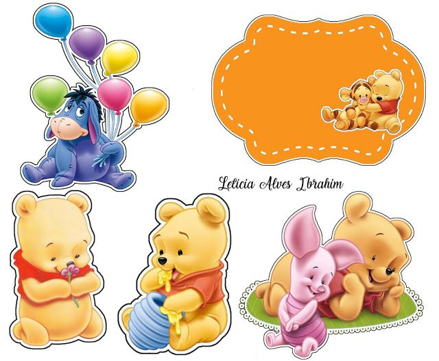Baby Winnie The Pooh Free Printable Cake Toppers Cute Cartoon Wallpapers Winie The Pooh Winnie The Pooh
