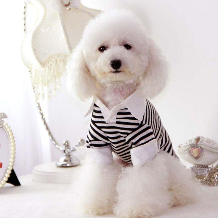Черная полоса собака домашняя кошка рубашки поло балахон летом небольшой собака щенок пальто куртка костюм одежду для собак чихуахуа одежда